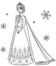 queen elsa and princess anna coloring pages princess anna ...