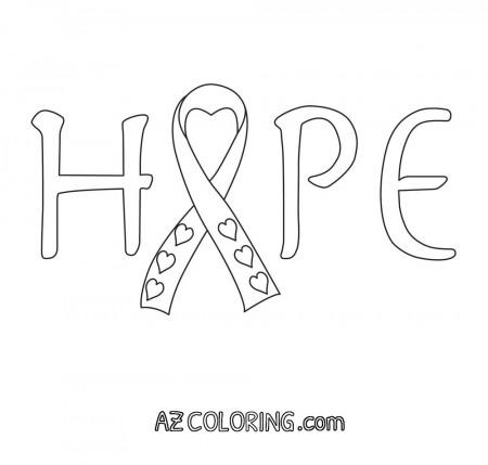 Breast cancer ribbon vector outline breastcancerinfoblog for Breast cancer ribbon coloring pages