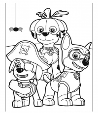 PAW Patrol on Halloween Coloring Pages