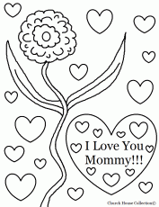 Coloring Pages That Say I Love You Mom High Quality Coloring