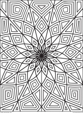 Coloring Pages Geometric Art - High Quality Coloring Pages