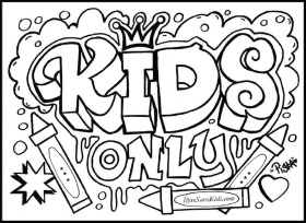 Graffiti Coloring Book Pages - Coloring Pages for Kids and for Adults