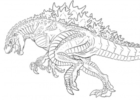 printable godzilla coloring pages