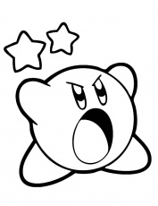 Kirby Scream Loud Coloring Pages : Kids Play Color