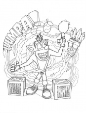 Crash Bandicoot 7 Coloring Page - Free Printable Coloring Pages for Kids