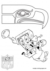 NFL Seattle Seahawks Coloring Pages | Seattle Seahawks Patrick and ...