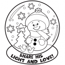 Snow Globe Winter Coloring Pages | Winter Coloring pages of ...