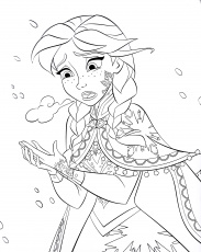 kawaii frozen coloring pages