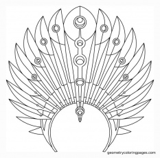 Indian Headdress Coloring Page - Coloring Page