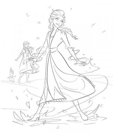 Disney's Frozen Coloring Pages 2 | Disneyclips.com ...