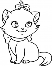 Best Coloring : Very Cute Cat Disney The Aristocats Kitten ...