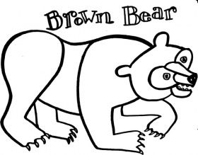 Brown Bear Coloring Pages Brown Bear Brown Bear Coloring Pages ...