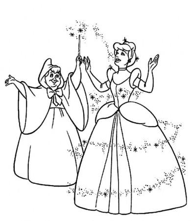Coloring page : Cinderella the magic pumpkins - Coloring.me ... | 230x200