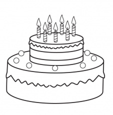 Coloring Pages of Round Cake | Coloring
