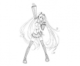 Hatsune Miku Coloring Pages Hatsune Miku Coloring Pages