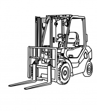 Image result for forklift colouring | Forklift, Color, Tow truck