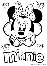 Minnie Mouse coloring pages on Coloring-Book.info