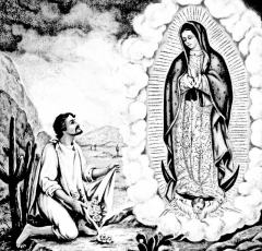 virgen de guadalupe and st juan diego coloring
