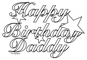 happy birthday daddy printable coloring pages