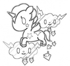 tokidoki coloring pages coloring style pages - Tokidoki Donutella Coloring Pages