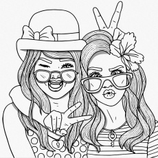 Bestie People Coloring Pages Cute Cool Sheets To Print Free Out For Adults  – Slavyanka