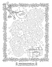 Christmas Maze Printable - Tim's Printables