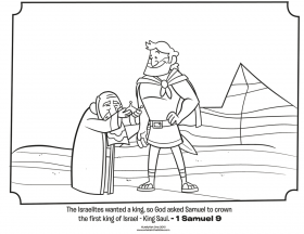 King Saul And David - Coloring Pages for Kids and for Adults