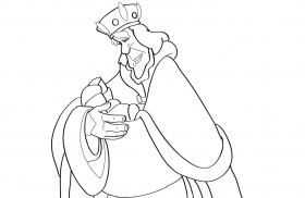 swan princess coloring pages - odette swan princess coloring page coloring home