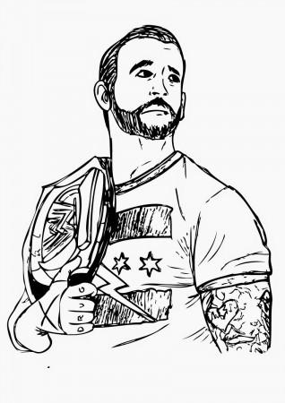 14 Pics Of Wwe Sin Cara Coloring Pages Logo John Cena