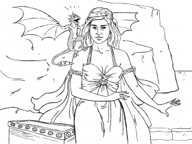 Game of Thrones Colouring in Page - Danaerys | Coloring ...