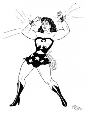 Wonder woman clipart black and white - ClipartFest