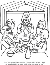 The Last Supper Bible coloring page for Kids to Learn bible ...