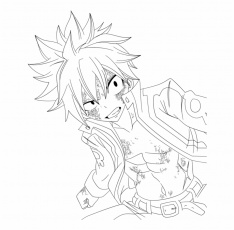 Fairy Tail Natsu Dragneel Coloring Pages | Transparent PNG ...