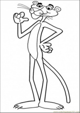 Coloring Pages Thats Me (Cartoons > Pink Panther) - free printable