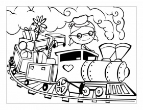 Choo Train Coloring Pages Pictures Imagixs Id 89863 267541 Choo