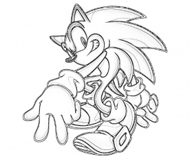 gold sonic coloring pages - photo#27