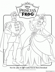 The Princess and the Frog Disney Princess Coloring Pages