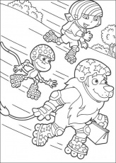 DORA THE EXPLORER coloring pages - Dora the Explorer, Map and Backpack