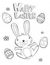 Happy Easter - Free Printable Coloring Pages