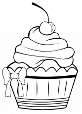 A Very Pretty Cupcake Coloring Pages - Cookie Coloring Pages