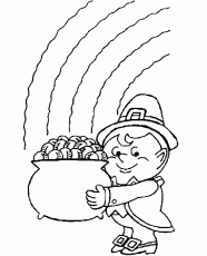 Printable st-patricks-day-gold-coloring-page - Coloringpagebook.com