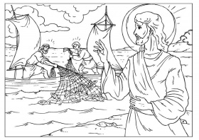 Coloring page fishers of men - img 25929.