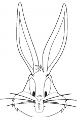 bunny face coloring page