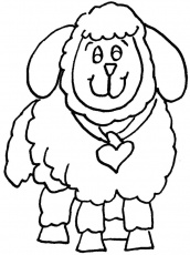 awesome lovely Sheep Coloring Pages For Kids | Great Coloring Pages