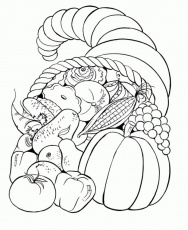 Fall Harvest Bounty Coloring Page - Kids Colouring Pages