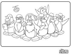 Christmas Penguin Coloring Pages Printable - Coloring Page