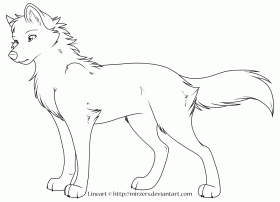 wolf coloring page - High Quality Coloring Pages