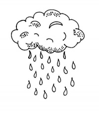 Best Photos of Cloud And Raindrops Coloring Page Activity - Cloud ...