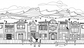 Printable Adult Wild West Town Coloring Pages Coloring Home
