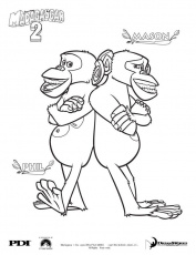 Madagascar 2 : Chimpanzee coloring pages - Coloring - Famous ...